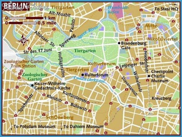 Berlin Map Tourist Attractions