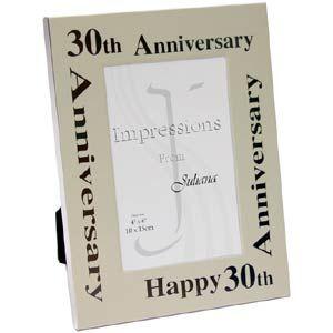30th Wedding Anniversary Clip Art Aluminium Photo Frame 30 Year Annivesary Celebration Pinterest And