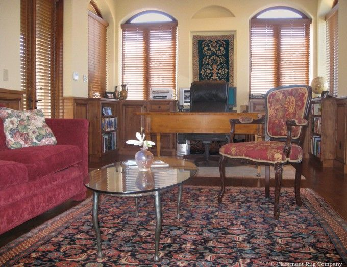 Antique Persian Rugs Displayed On Both Wall And Floor Tremendously Unify  The Gentlemanu0027s Office Http: