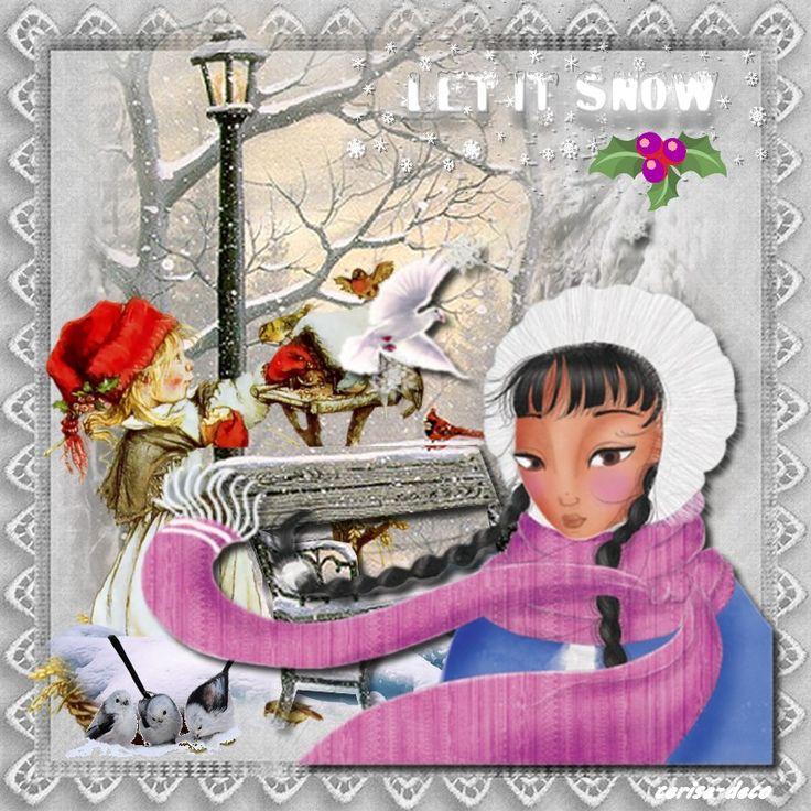 gif hiver pour le défi de fée capucine - gifs à gogo , des défis de créations,des image