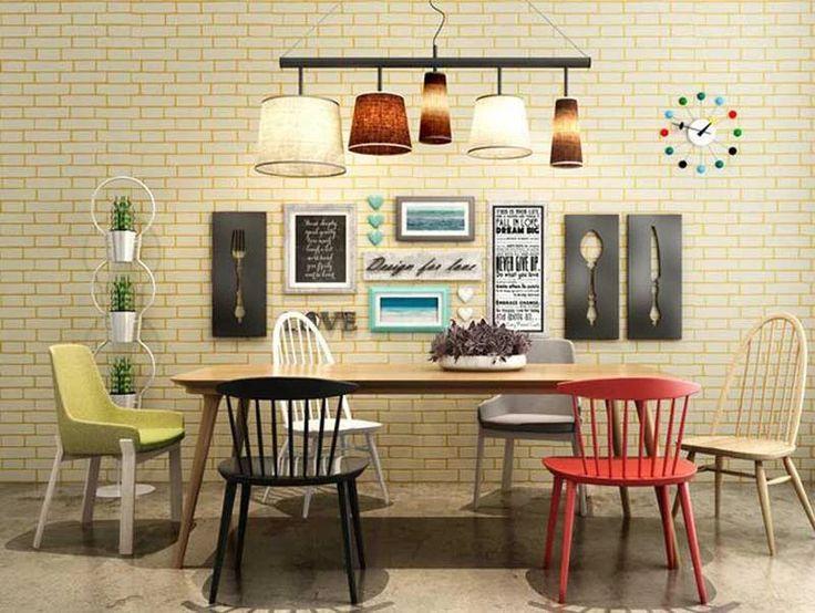 3D Modern Tasarım Tuğla Duvar Kağıdı Rulo Vinil Duvar Kaplaması Duvar Oturma Odası Için Mağaza Arka Plan kağıt 10 m Yatak Odası TV Duvar Kağıt