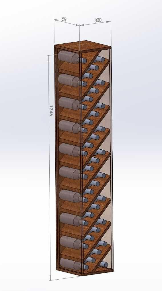 Diy Wine Rack To Fill Space Next To Fridge Updated Diy Wine Rack Wine Rack Design Wine Rack