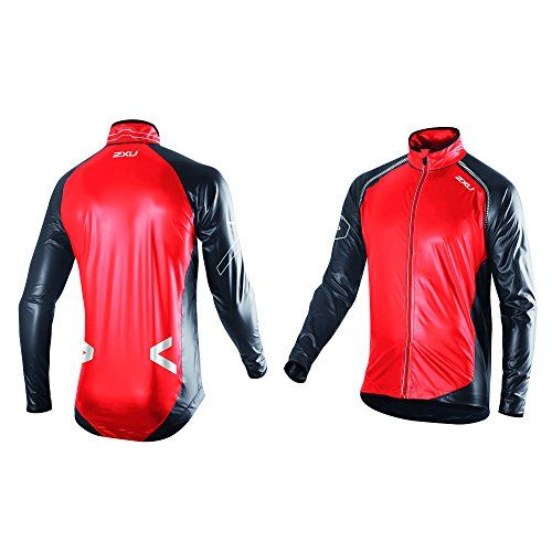 2XU Men's X Lite Membrane Jacket, Neon Red/Black, Medium. Fusion welded seams. 2xu's X Lite Membrane. Waterproof Breathable for maximum protection and comfort. Waterproof, yet breathable. Featuring 2XU's revolutionary fully waterproof X LITE MEMBRANE, this 2XU Jacket is light, breathable and moisture wicking while promising to shield against mother nature's many frontiers. Incomparable to the opposition, this intelligently engineered piece comes finished with seam sealing, sculpted...
