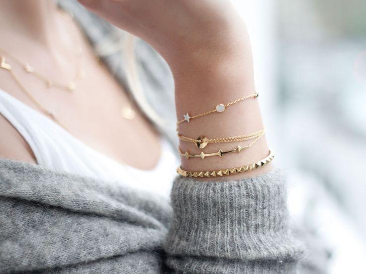 Missoma 18Ct Gold Vermeil & Pave Zircon Cosmic Star Bracelet