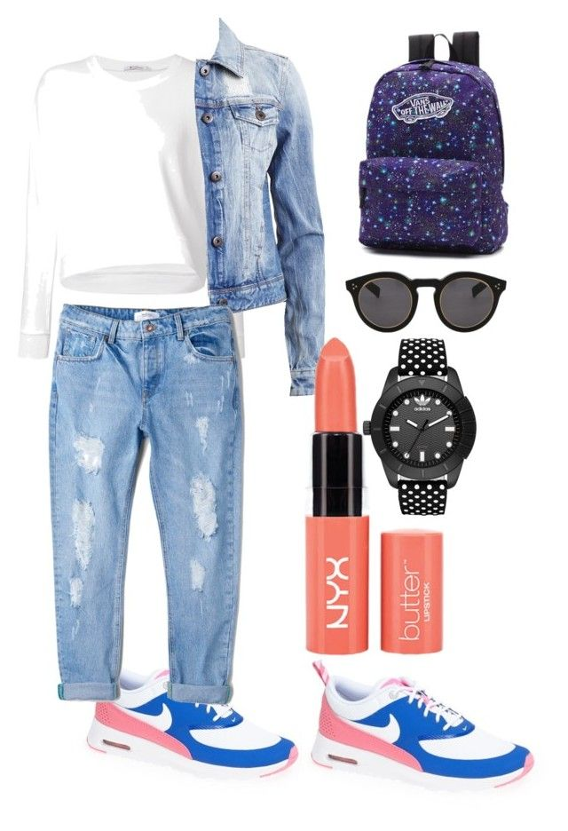 """""""For me the most comfortable set."""" by ro-mondryk on Polyvore featuring T By Alexander Wang, NIKE, VILA, Vans, MANGO, Illesteva and adidas Originals"""
