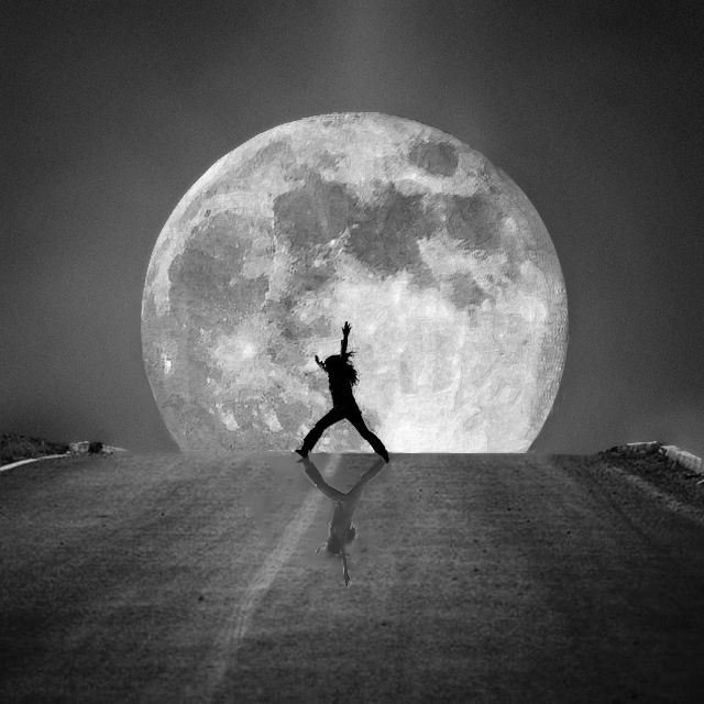 Moonlight Dancng on the Road