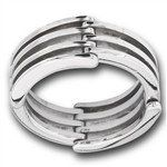 #5320 Stainless Steel Hinged, Movable Ring