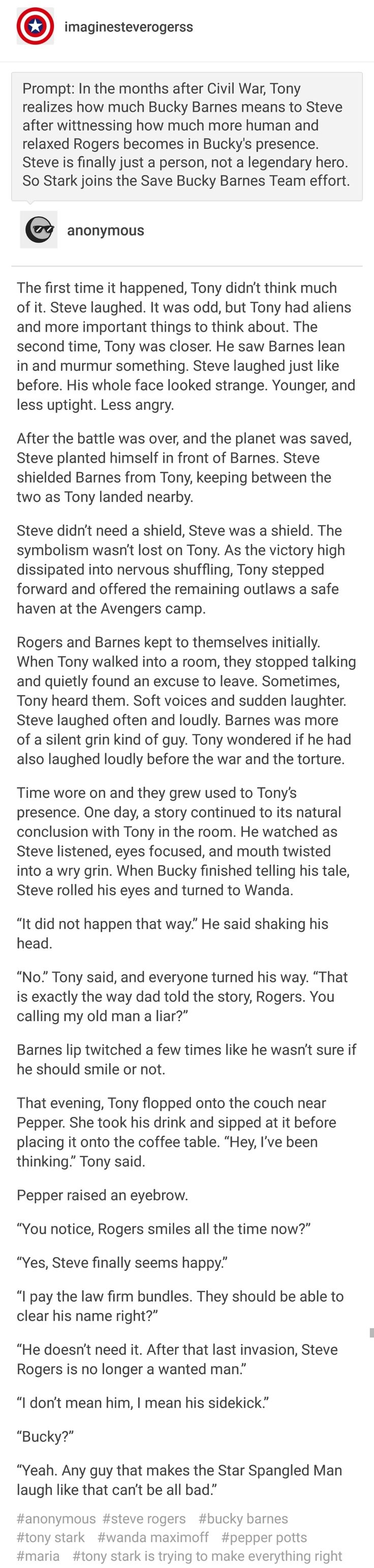 He's just a person. Just like you, Tony. Just like you. | #ficlet #brooklynbros #tonystark