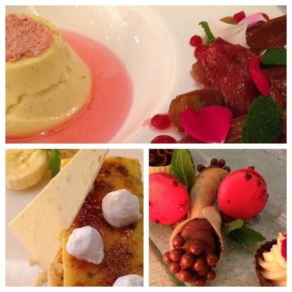 """From @wellingtonista - """"Desserts from the new menu at @chameleonWLG - super exquisite rhubarb soup & petit fours #tasteindulge """""""