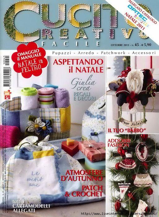 Cucito Creativo Facile №45 2011. Обсуждение на LiveInternet - Российский Сервис Онлайн-Дневников