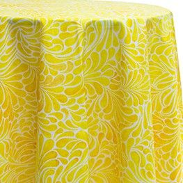 45 in Square Contemporary Tablecloth in Fleur yellow for 2017 Easter - Premier Table Linens