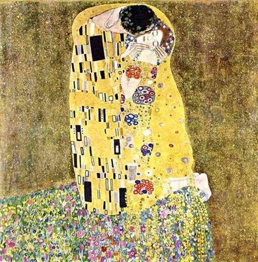Описание картины Густава Климта Поцелуй