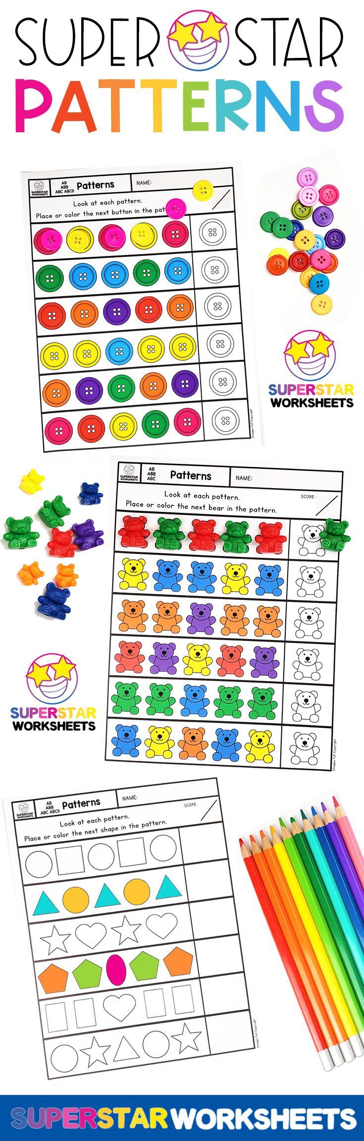 Free Pattern Worksheets Preschool Patterns Pattern Worksheet Preschool Pattern Worksheets [ 2305 x 735 Pixel ]