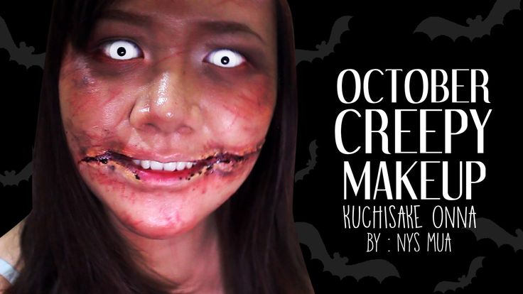 Tutorial Creppy Makeup Kuchisake Onna (October) - BAHASA