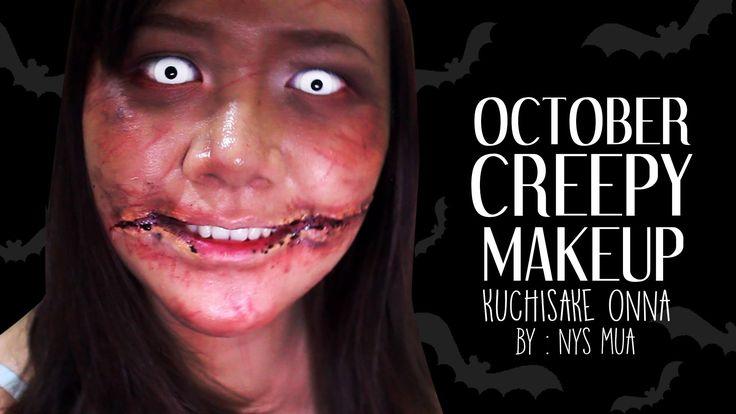 Tutorial Creppy Makeup Kuchisake Onna (October) - BAHASA