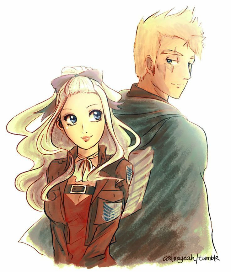 Mira X laxus- attack on Titan crossover Mira seems a bit too girly though...