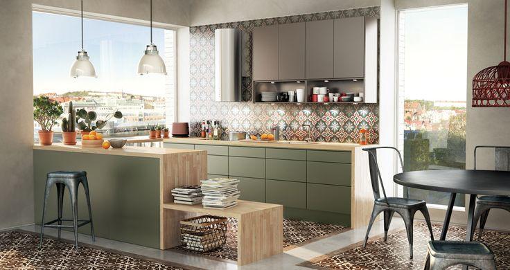 Landelijke Keuken Olijfgroen : Keuken op Pinterest – Bruine Woonkamers, Groene Keuken en Groene