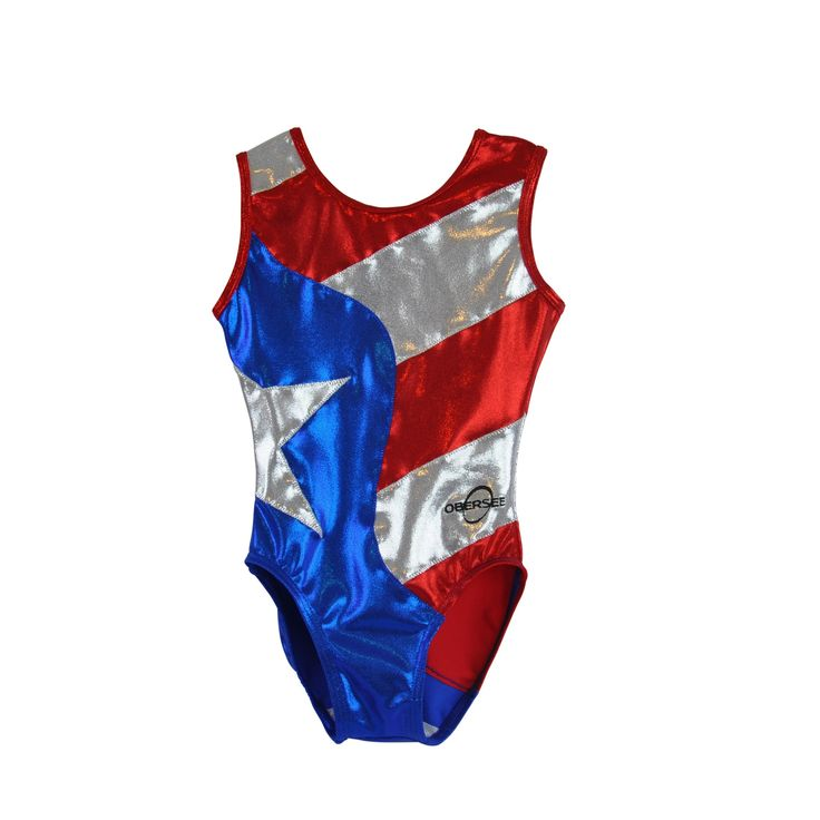 Tumble, jump and flip in style with this adorable Kids' Flag Gymnastics Leotard. All Obersee leotards are carefully designed for the young gymnast and feature soft material, scoop neckline, fun design