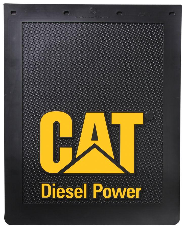"Caterpillar CAT Diesel Power 24"" x 30"" Semi Truck Mud Flaps/Splash Guards - Semi Truck Mud Flaps - Caterpillar Merchandise"