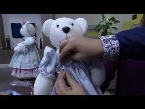 Ursinho de tecido passo a passo - YouTube