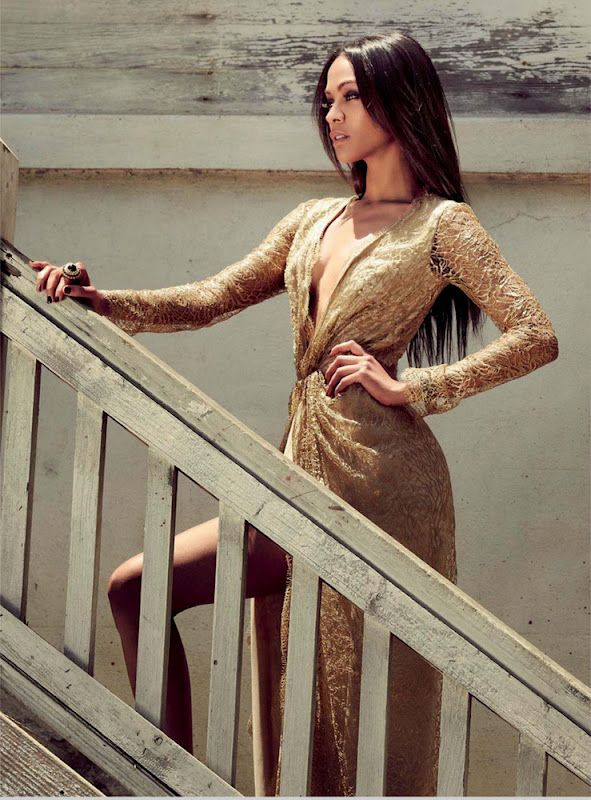 Zoe Saldana for Harper's Bazaar Arabia September 2012