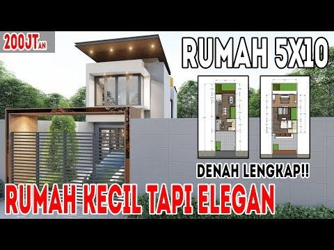 desain rumah 5x10 2 lantai, rumah kecil yang elegan