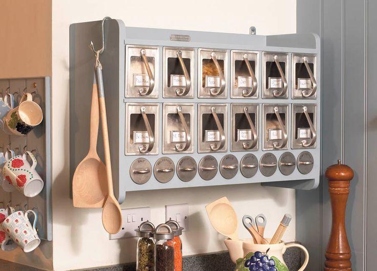 Spice Storage Unit // Scandinavian Kitchen Storage