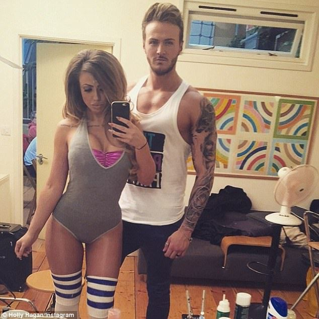In happier times: Holly Hagan revealed she had been planning her split from Kyle Christie for three months before she went through with it