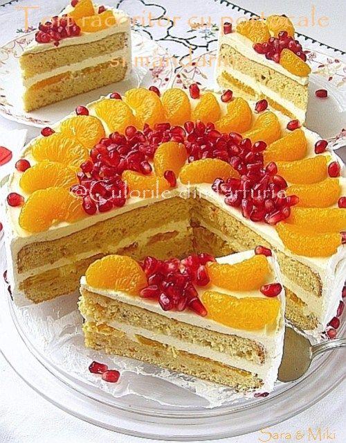 Tort racoritor cu portocale si mandarine