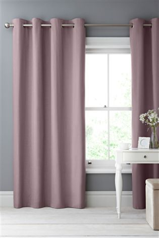 Dark Lilac Cotton Blackout Eyelet Curtains Studio Collection By Next