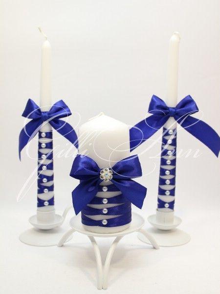 Набор из трех свадебных свечей Семейный очаг Gilliann Sophia CAN081, http://www.wedstyle.su/katalog/ceremony/svadebnye-svechi, wedding candle, wedding accessories