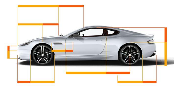 Aston Martin DB9 - Golden ratios in the design