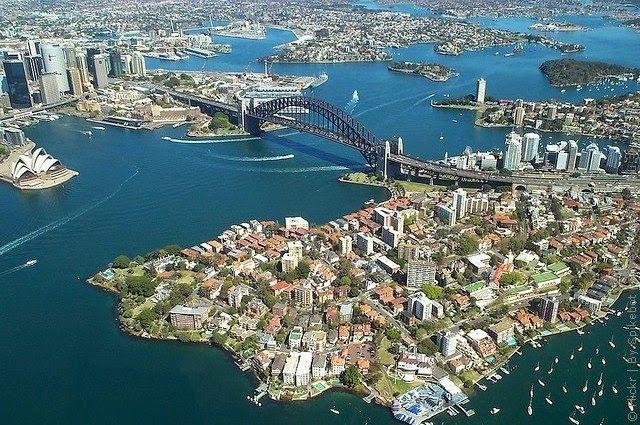 Мост Харбор-Бридж, Сидней, Австралия. / Harbor Bridge, Sydney, Australia.