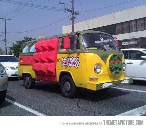 I want this van. It's totally awesome dude, cowabunga.