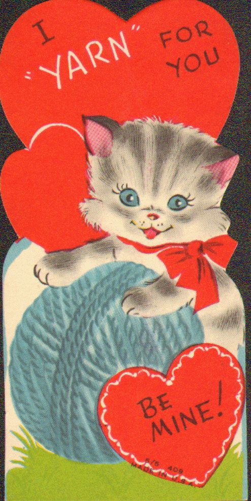 "Sad that these are considered ""vintage"" Valentine's Day Cards... I remember getting one like this!"