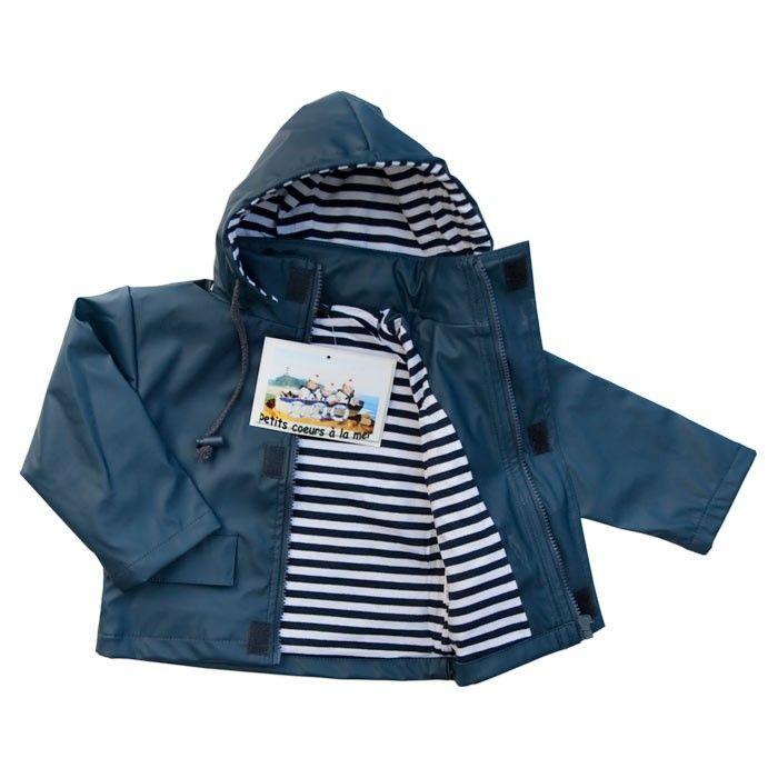 Ciré de pluie bleu marine bébé et enfant | Le Puits aux Cadeaux 24.90e
