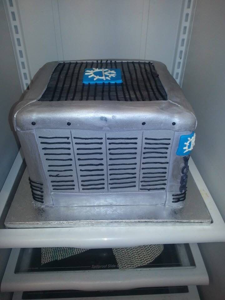 Groom's cake - YORK air conditioner  .. Done by Tiers Of Elegance in Terre Haute IN