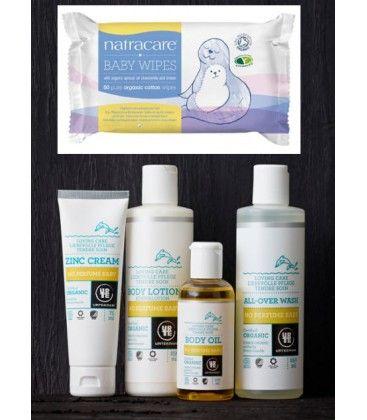 Nuevo #pack #ecológico para el cuidado del #bebé Los mejores productos para la piel sensible y delicada del recién nacido.  El kit incluye: - Loción para bebés Sin Perfume 250 ml URTEKRAM - Champú para bebés Sin Perfume 2 en 1 de 250 ml URTEKRAM - Bálsamo de Zinc Sin Perfume para bebés 75 ml URTEKRAM - Aceite para bebés Sin Perfume 100 ml URTEKRAM - Toallitas algodón ecológico Bebé 50 ud NATRACARE - Papel seda de un color bonito - Una etiqueta en forma de estrellita para poner el nombre del…