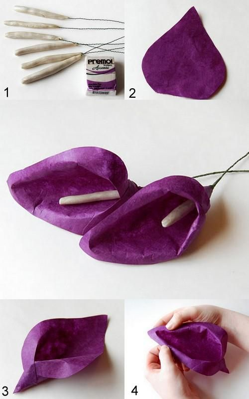 DIY Simple Paper Calla Lily DIY Simple Paper Calla Lily by diyforever