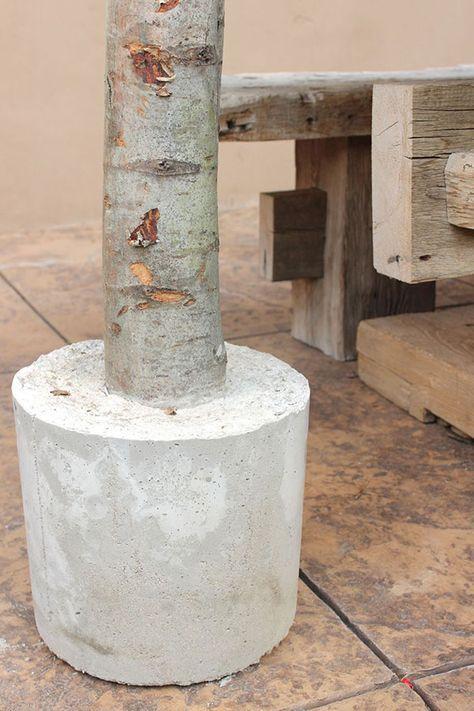 Unique Diy String Light Poles With Concrete Base Micoley S