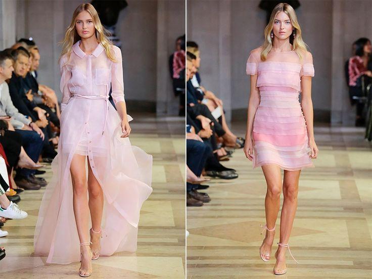 Прозрачные платья: Carolina Herrera