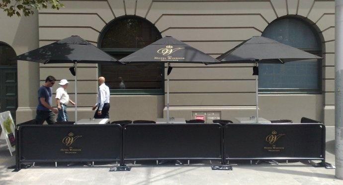 Bistro Outdoor Market Umbrella - Hotel Setting