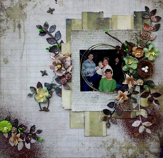 Family in the Park Scrapbooking Layout