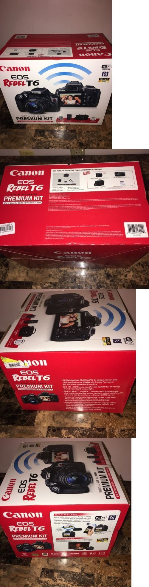 Camera Photo: Brand New Canon Rebel T6 Dslr Camera With 18-55,75-300Mm Lenses, Bag BUY IT NOW ONLY: $460.0