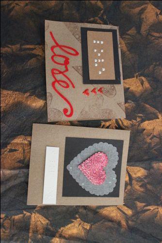 Braille Valentine's Day Cards from CraftTestDummies.com