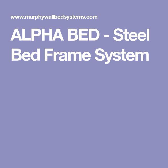 ALPHA BED - Steel Bed Frame System
