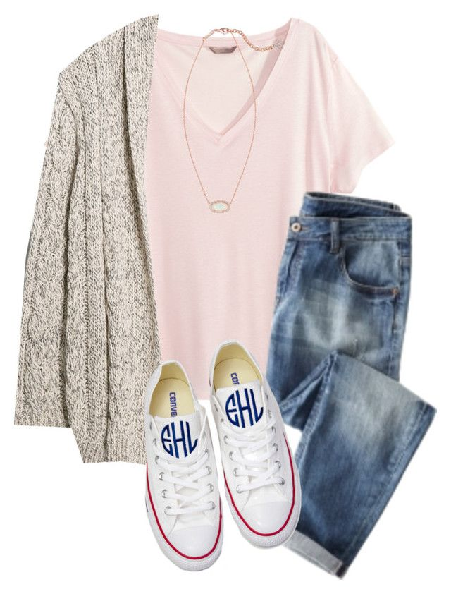 """""""..."""" by therealprep13 ❤ liked on Polyvore featuring H&M, Violeta by Mango, Converse and Kendra Scott"""