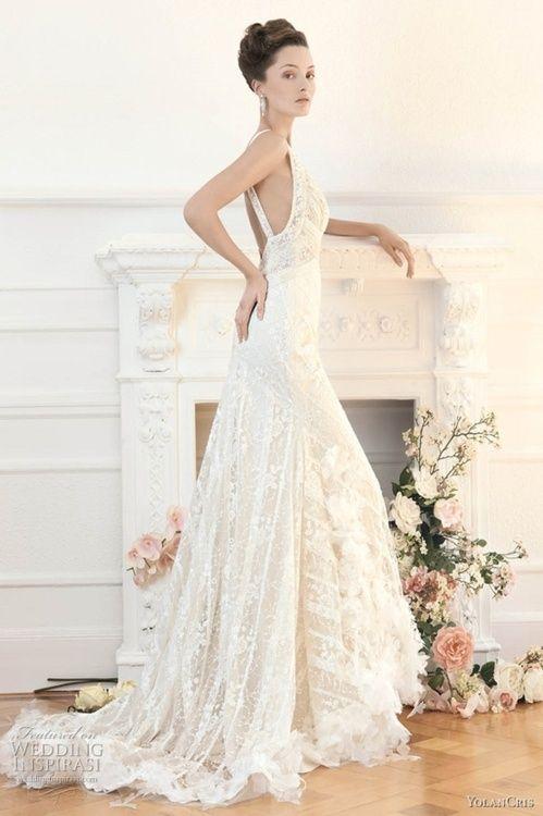 Yolan Cris vintage style wedding dress..