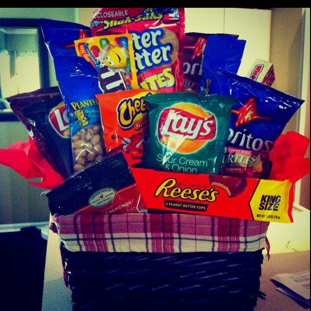 Matts Gift Basket That I Made Him For Valentines Day Gift Ideas