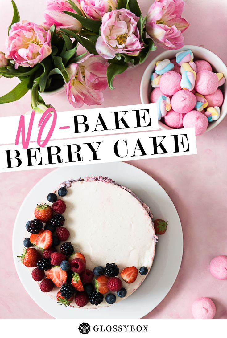Cake, No-Bake, Berry, Baking